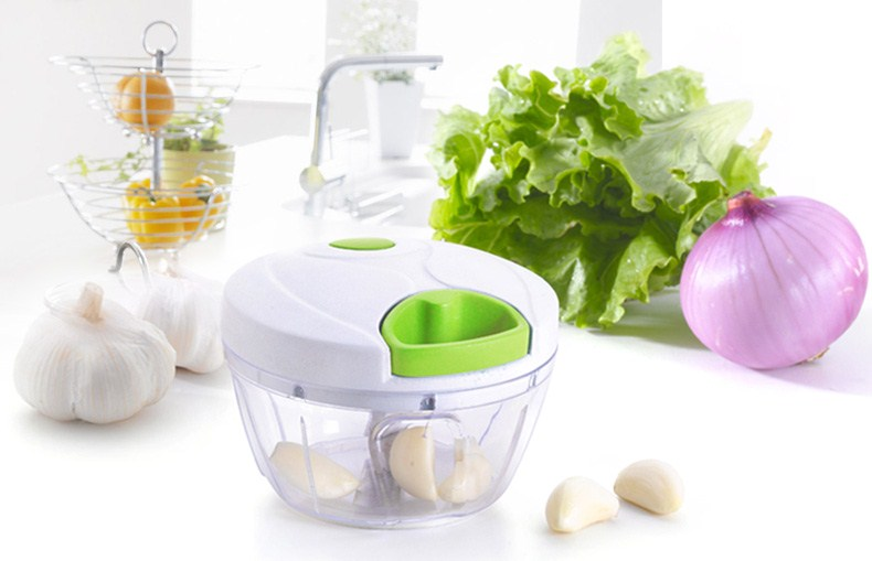 Pull-cord Food Chopper Fruit Vegetable Dicer Garlic Ginger Cutter Kitchen Gadgets Cooking Tools 2