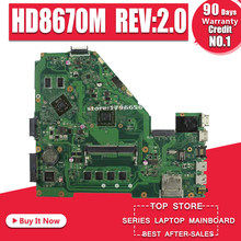 X550EP Papan Utama HD8670M Rev: 2.0 untuk ASUS F552E X552E X552EP Motherboard Laptop X550EP Mainboard Test Oke A4-5100 4GB RAM(China)