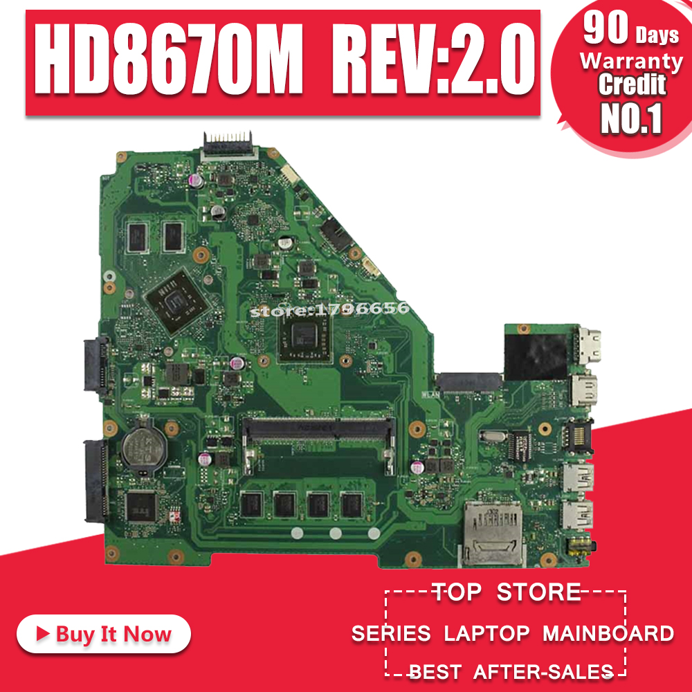 X550EP Motherboard HD8670M REV:2.0 For ASUS F552E X552E X552EP laptop Motherboard X550EP Mainboard test ok A4 5100 4GB RAM