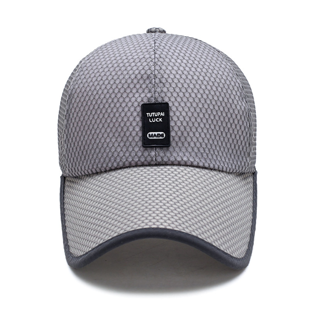 Summer Breathable Mesh Baseball Cap Quick Drying Hats For Men Blue ... d9904d5c3f73