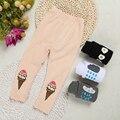 2017 Nova Kikikids bebês meninas Dos Desenhos Animados leggings padrão de quatro cores a roupa do bebê crianças calças meninas crianças calças legging SK079