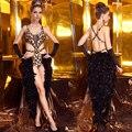 Латинский продвижение лан квай фонг 2213 перо цельный брюки костюм леопардовый сексуальный купальник танец одежды бесплатная доставка