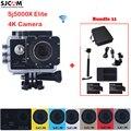 Série SJ5000X Elite Wi-fi À Prova D' Água Esportes de Ação Da Câmera Sj5000 SJCAM Sj 5000X Cam DV + 2 Battery Charger + Dual + monopé + Set + Saco de Carro