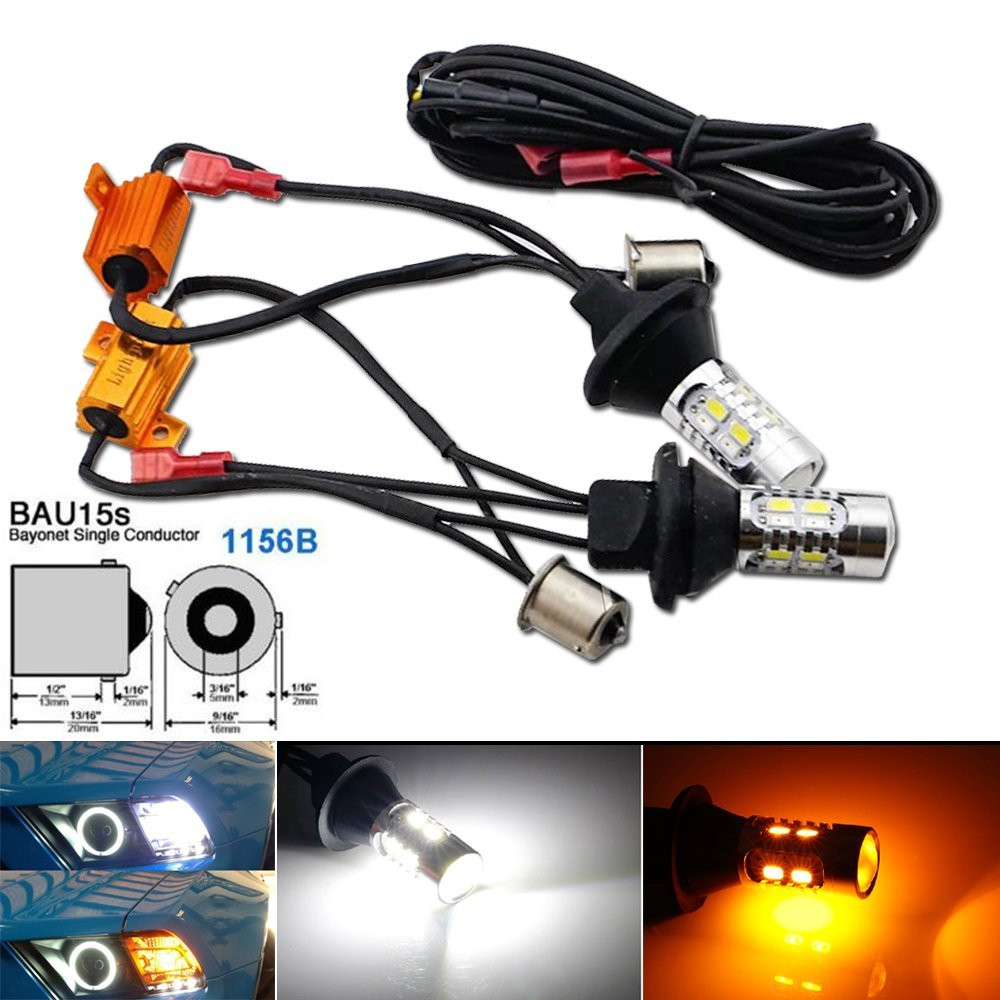 2pcs high power bau15s 1156b dual color bi color switchback led rh aliexpress com