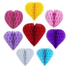 1pc Heart Shape Wedding Decorations Valentines Day Decor  8(20cm) Honeycomb Balls/Lanterns For Marriage Valentine Party
