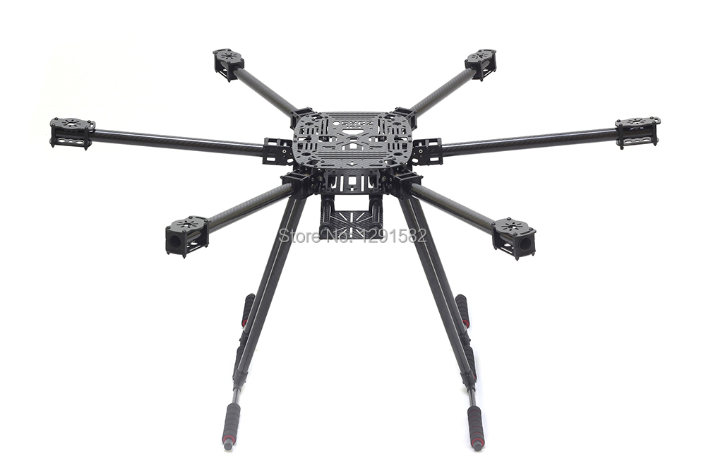Neueste volle Carbon faser ZD850 ZD 850 850mm 6 achse Hexacopter Rahmen Kit mit carbon fiber landing skid-in Teile & Zubehör aus Spielzeug und Hobbys bei  Gruppe 1