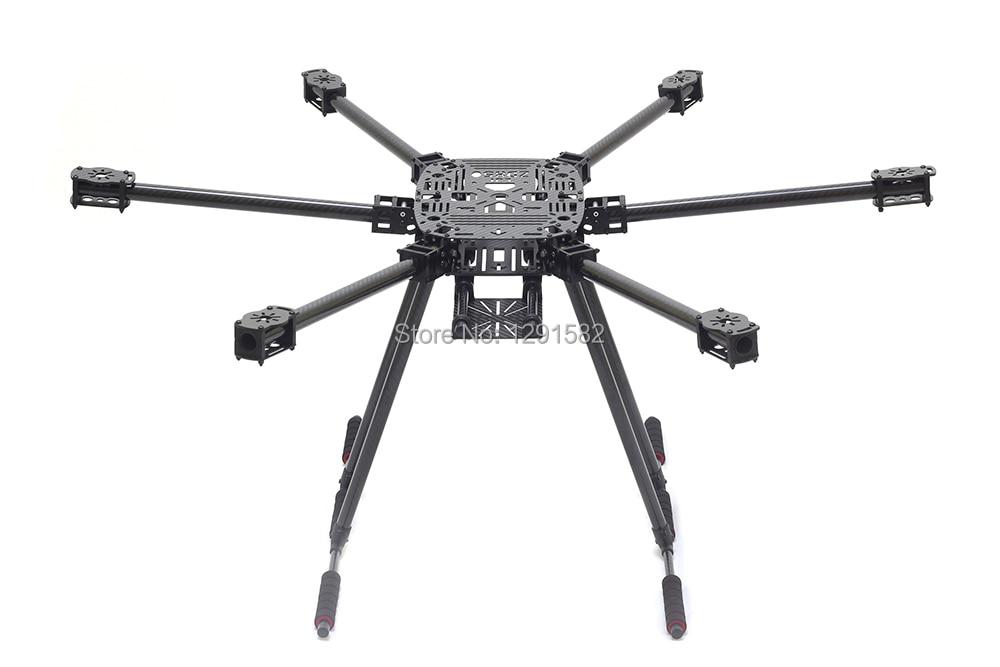 أحدث كامل الكربون الألياف ZD850 ZD 850 850 مللي متر 6 محور Hexacopter طقم إطارات مع ألياف الكربون جرافات الهبوط-في قطع غيار وملحقات من الألعاب والهوايات على  مجموعة 1