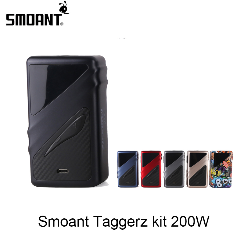 Original Smoant Taggerz 200W Mod Electronic Cigarette Box Mod OLED Screen E-Cig Vaporizer For RTA RDA RDTA Powered By Dual 18650