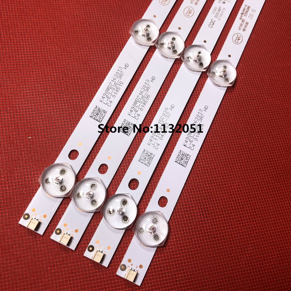 1set=9pcs LED strip for P hili s 49inch TV 49PUF6050/T3 backlight K490WD7 A1 4708-K490WD-A2213K01