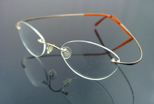 ce2437f4bc Vintage Small Oval Rimless Reading Glasses +50 +75 +100 +125 +150 +175 +200  +250 +3 +350 +375 +400 +425 +450 +475
