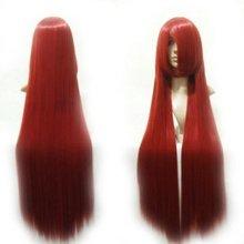 Горячая аниме Fairy Tail 40 »красный Эрза Косплэй парик партии Хэллоуин костюм парик