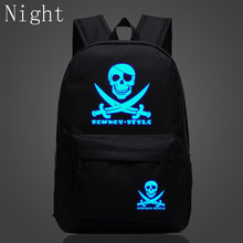 2017 Luminous Pirate Bags School Shoulder Bags For Teenagers The Caribbean Skull Scnkcy Style Casual Backpacks Children Gifts