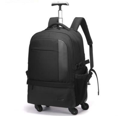 Los hombres de mochila de equipaje bolsas en ruedas de carro con ruedas mochila de viaje trolley bolsa maleta-in Bolsas de viaje from Maletas y bolsas    1