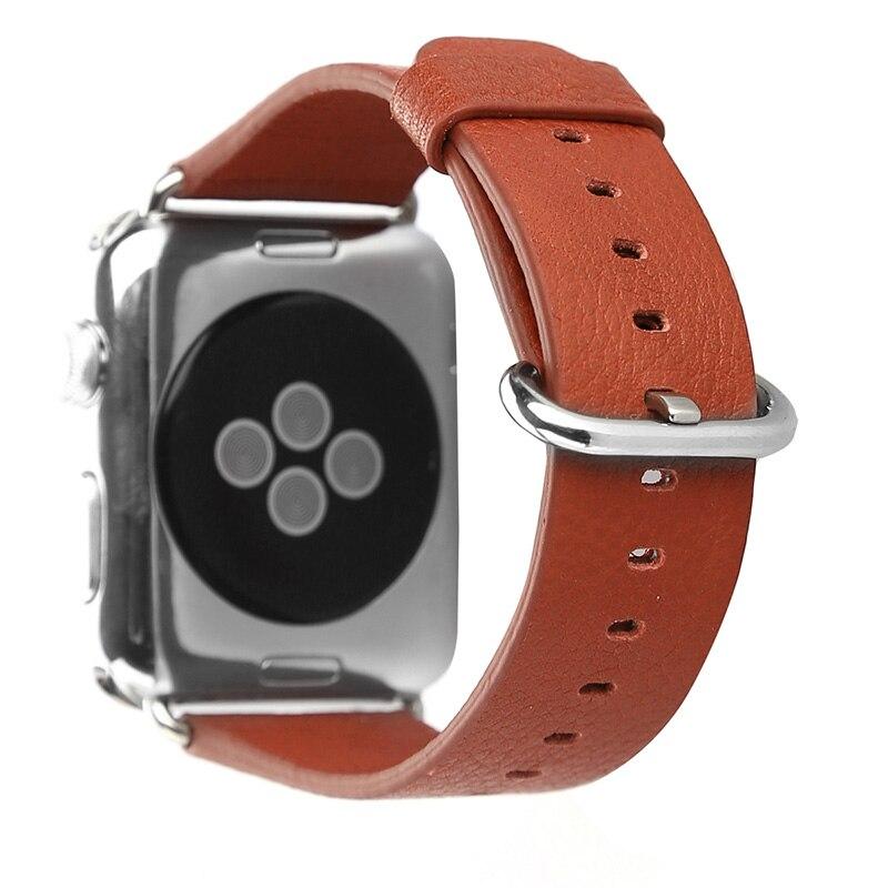 FOHUAS loomanahast ehtsast nahast rihmaga vöötlint Apple Watchi - Kellade tarvikud - Foto 5