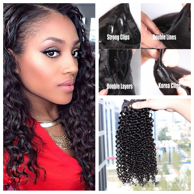 Clip in Hair Extensions Natural Human Virgin Brazilian Hair Clip Ins Afro Kinky Curly Clip In Hair Extensions 10~26 inches In audio technica ath a550z полноразмерные наушники matte black