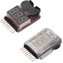 1pcs 1 8S LED Lipo Voltage Indicator Checker Tester Low Voltage Buzzer Alarm