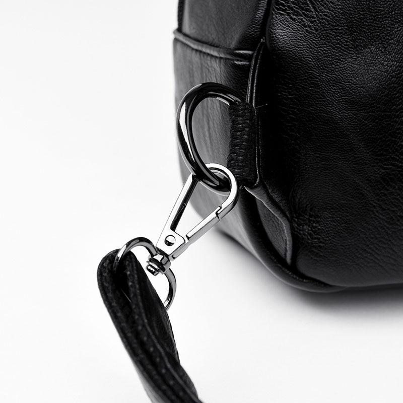 HTB1XWFflBjTBKNjSZFNq6ysFXXaf Women Leather Backpacks Zipper Female Chest Bag Sac a Dos Travel Back Pack Ladies Bagpack Mochilas School Bags For Teenage Girls