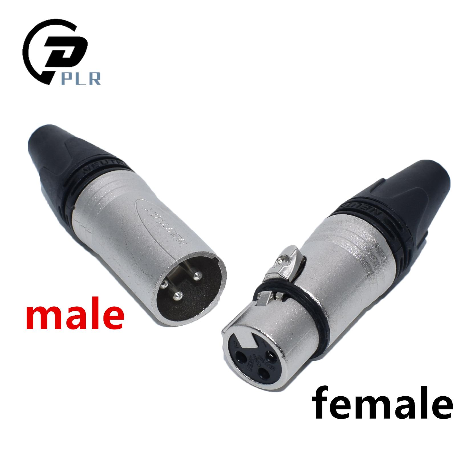 50Pcs lot 25PCS NC3MXX 25PCS NC3FXX NEUTR1K Male and female A set 3Pin XLR Connector withe