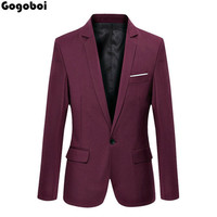 New Hot Sale New Stylish Tops Men S Casual Slim Fit One Button Formal Suit Blazer