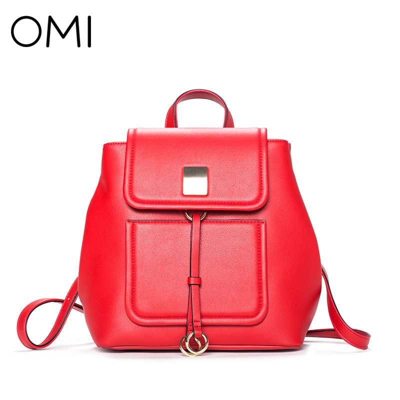 OMI Backpack Women's backpack Women's bag fashion girl's school bag famous designer brand bags luxury designer school pouch 2017 free shipping 2015 new famous designer brand fashion leisure cavans school college wind backpack eiffel tower pattern