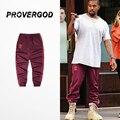 Provergod 2017 primaveral print kanye pantalones basculador para hombre hip hop clásico patinetas casual temporada 4 pantalones deportivos pantalones