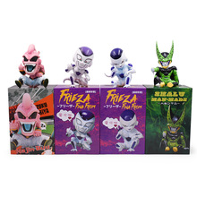 4 styles Anime Dragon Ball Z GK KID Buu Cell Frieza PVC Action Figure Freeza Doll Collectible Model Toy Christmas Gift [funny] original box 28cm game over watch azrael black death reaper ripper action figure collectible model doll toy kids gift