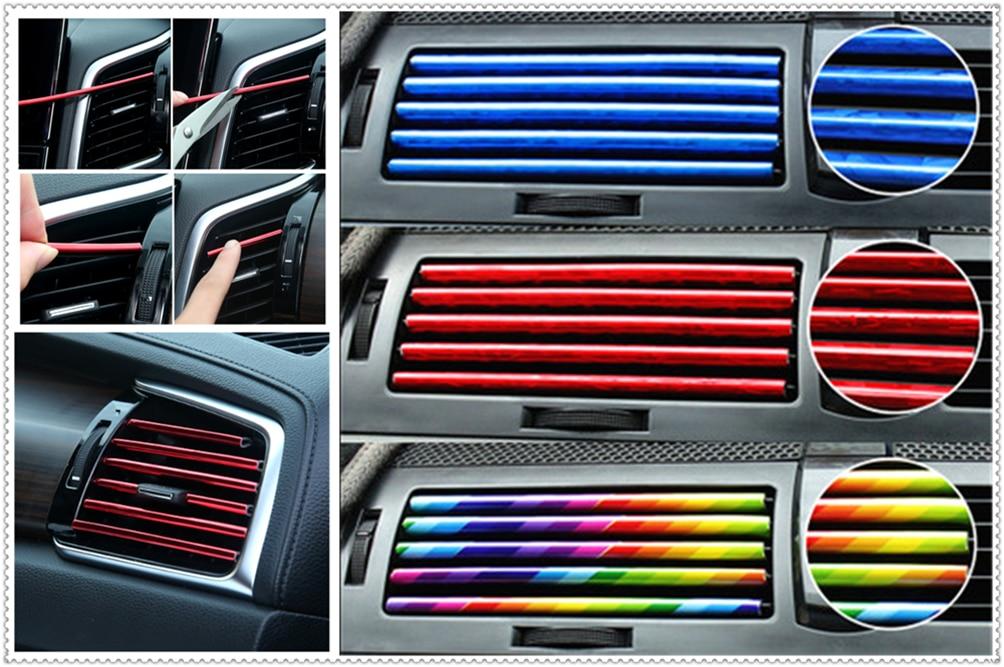 Car Modified U-shaped Plating Bright Chrome Color Decorative Strip For Kia Soul Forte5 Cadenza Telluride Pro Venga