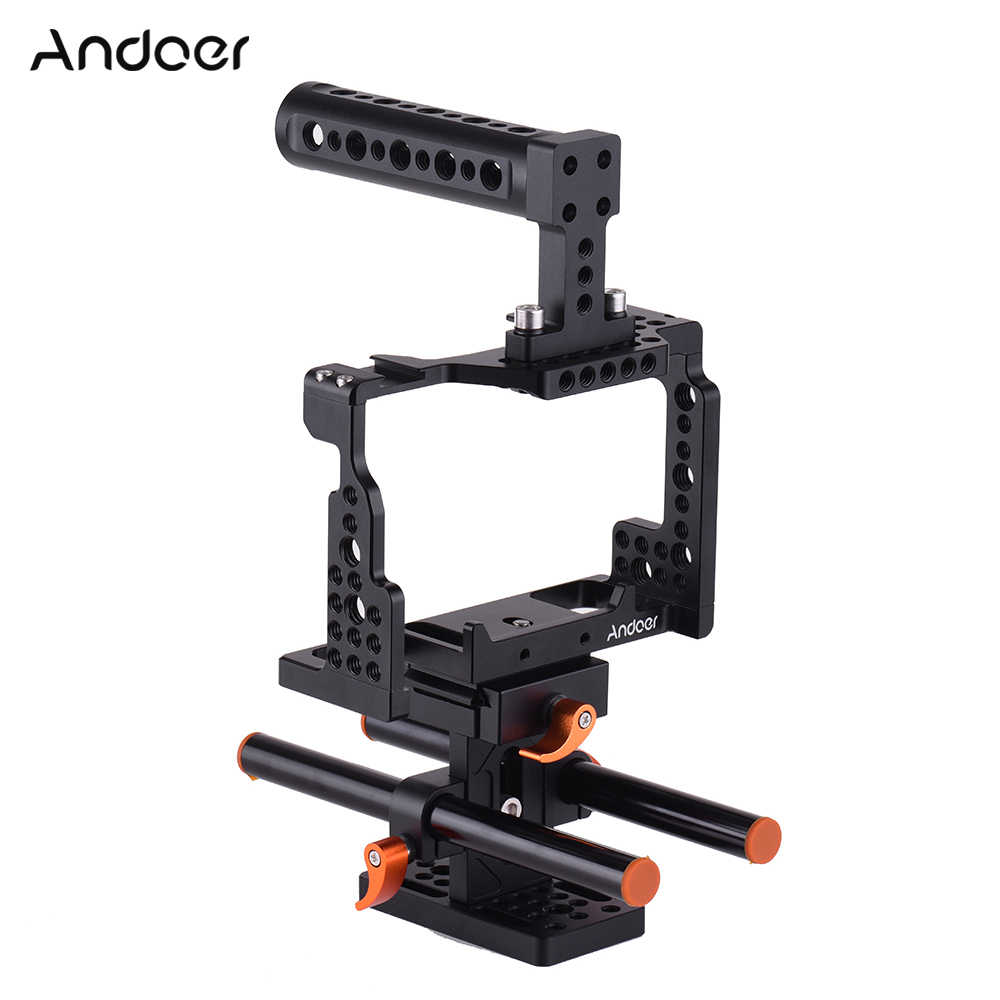 Andoer Handvat Camera Kooi Video Film Movie Maken Stabilizer Aluminium Voor Sony A7II/A7III/A7SII/A7M3/A7RII/A7RIII Camera