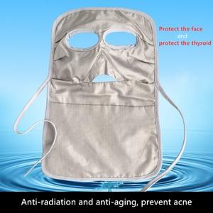 Image 5 - Ajiacn ממליץ אלקטרומגנטית קרינת הגנת מסכת להגן על פנים ולהגן על בלוטת התריס EMF מיגון ארוך פנים מסכה