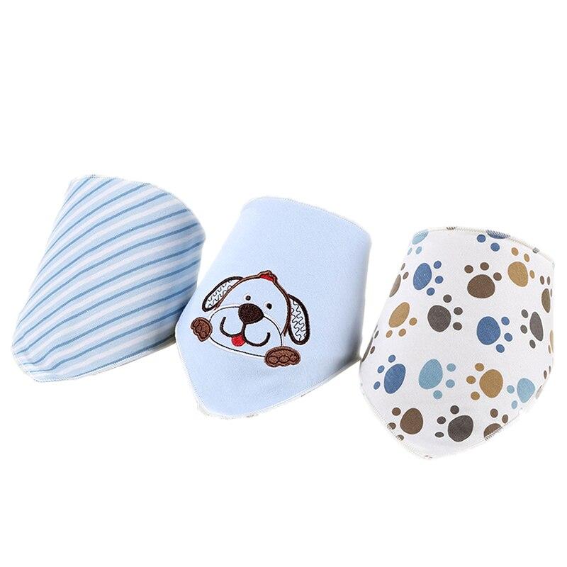 3pcs/set Baby Bibs Cotton Stripes Bibs Newborn Baby Girls Boys Infant Babador Saliva Bavoir Towel Baberos Baby Babadores Wz003 Can Be Repeatedly Remolded. Accessories Bibs & Burp Cloths