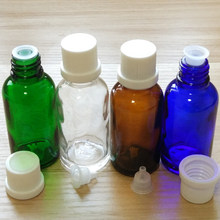 50ml Blue/Amber/Green/Clear Glass bottles with White Dropper caps.if you order over 150pcs,price 30%off !(China)