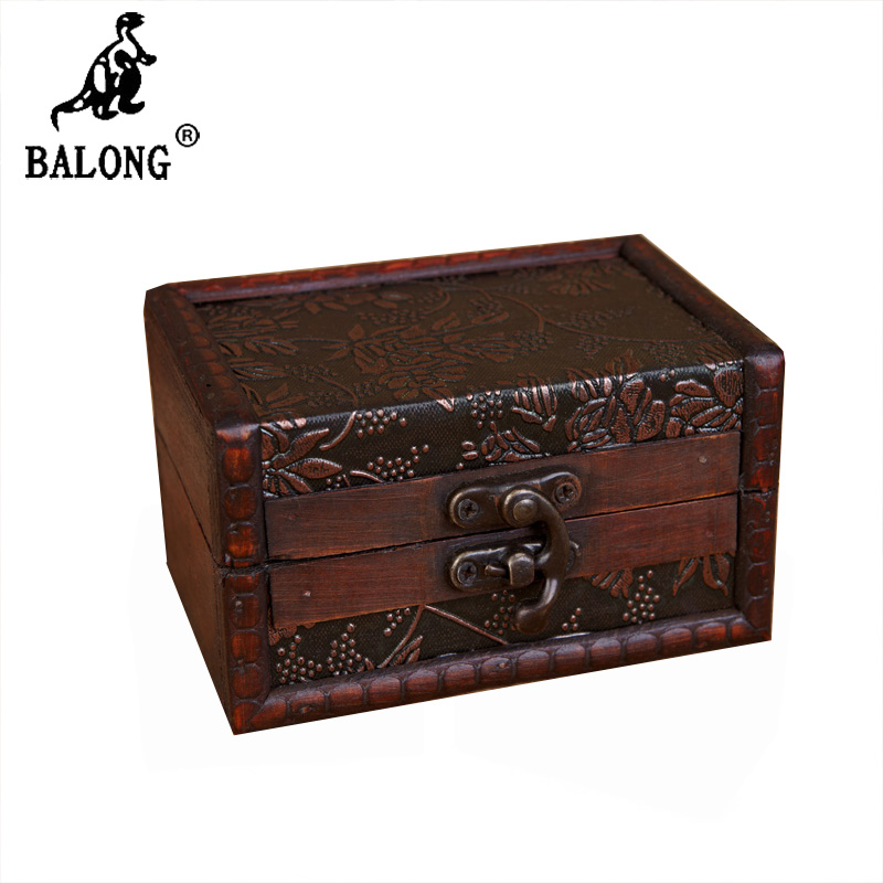 Antique wooden box jewelry boxes jewelry container for Big box jewelry stores