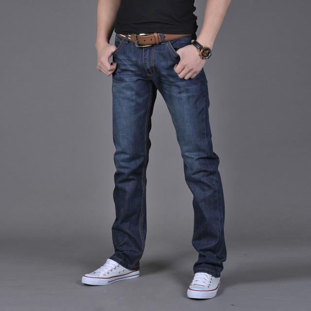 2019 men's casual pants Men Fashion High Quality Autumn Denim Cotton Hip Hop Loose Work Long Trousers Jeans Pants Drop Shipping