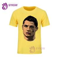 99639069b Cristiano Ronaldo Printed T Shirt Men Black T Shirt Mens Fashion Men T  Shirts Casual Brand