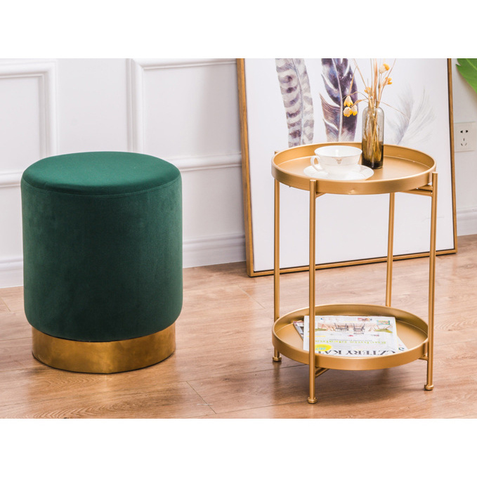 New Household Low Foot Stool Round Small Metal Bench Revivalism Kids / Children Chair Living Room Small Tea Table Sofa FabricNew Household Low Foot Stool Round Small Metal Bench Revivalism Kids / Children Chair Living Room Small Tea Table Sofa Fabric