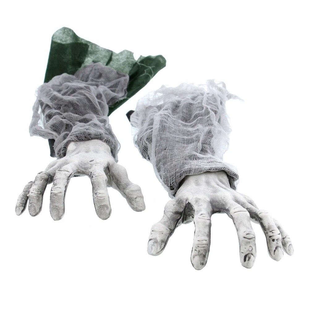 Halloween zombie hands Green Sleeve 3