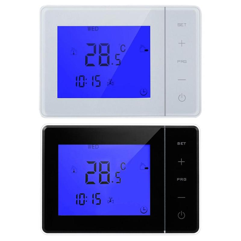 Thermostat AC220V Programmable Thermostat Electric Heating Temperature Controller LCD Display Touchscreen Thermostat Regulator crystal flower pendant light modern lighting living room lamp bedroom lamp aisle lighting
