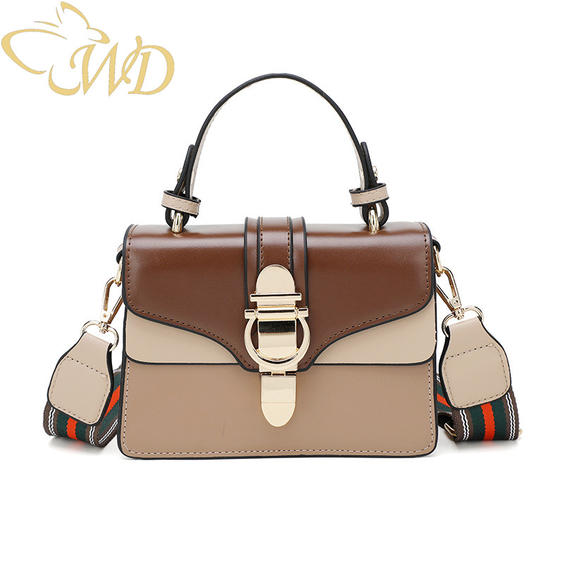WDbag Women Fashion Shoulder Bag 2019 New Contrast Stitching Crossbody Shoulder Bag Cute Handbags for Lady PU LeatherWDbag Women Fashion Shoulder Bag 2019 New Contrast Stitching Crossbody Shoulder Bag Cute Handbags for Lady PU Leather