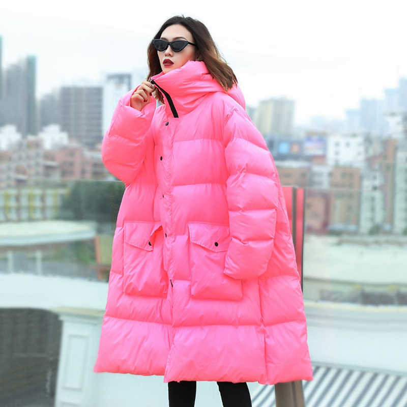 ea2d2483235 ... New Womens winter down jacket womens loose cotton-padded coats female  long hooded warm down ...