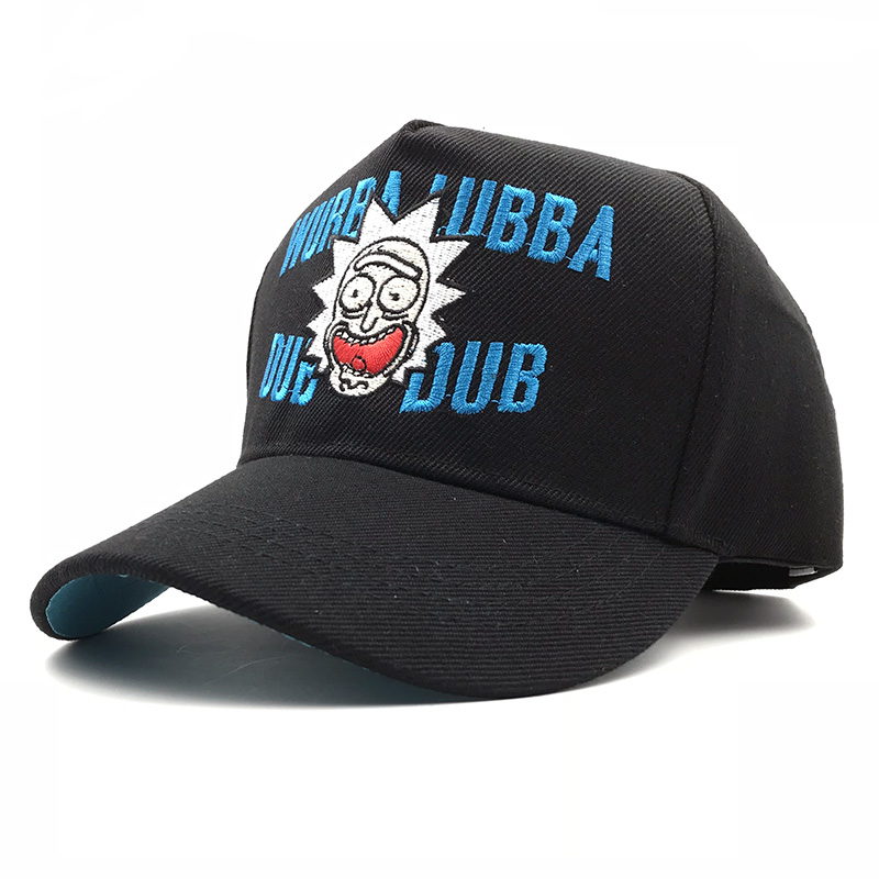 9393b6ca345 Rick and Morty Snapback Classic Sayings Wubba lubba dub dub Baseball Cap  Rick Molding Exquisite Embroidery Hip Hop Animation Hat