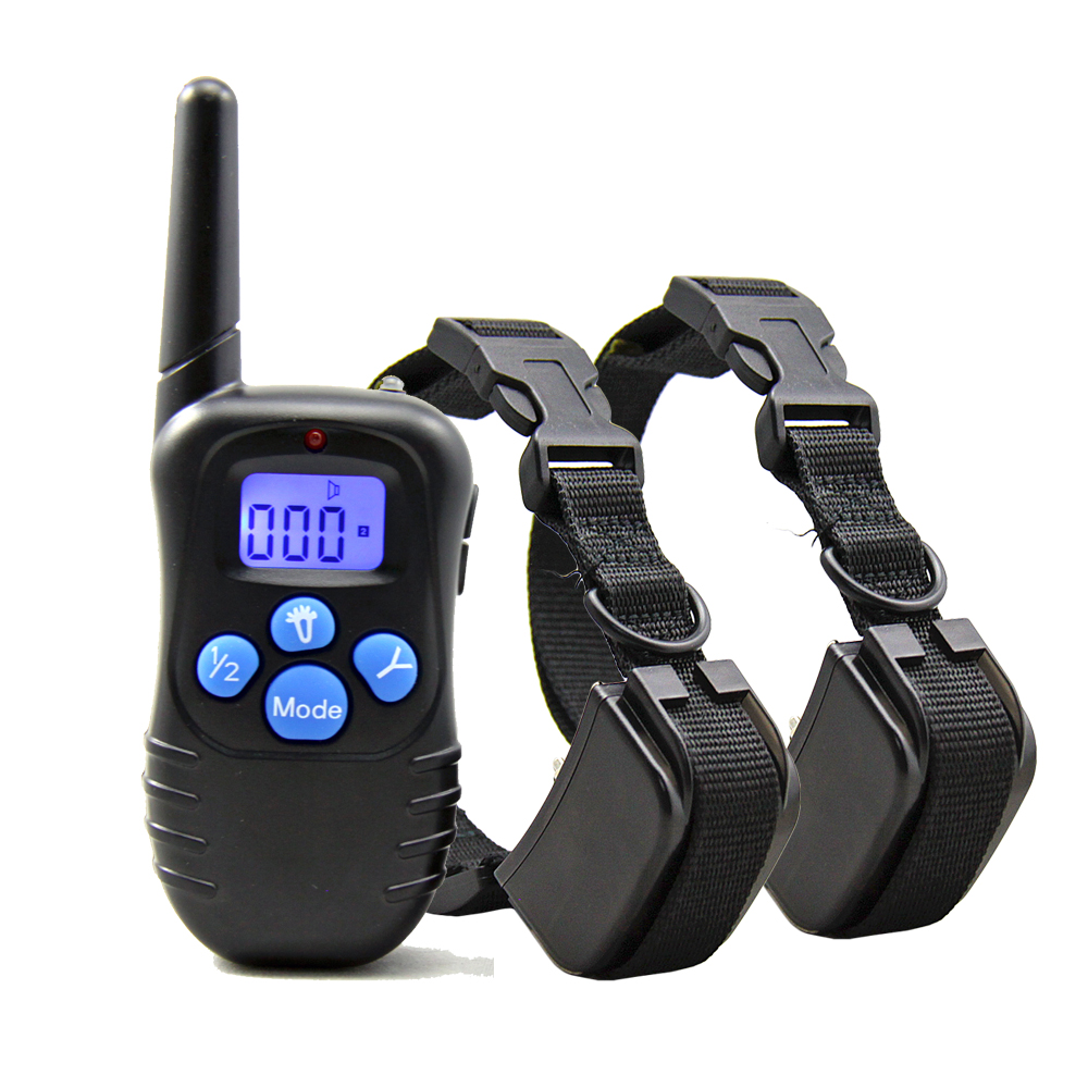Petrainer PET998DRB Dog Training Collar Rechargeable and Rainproof 330yd Remote Dog Shock Collar with Beep Vibration and Shock  dog care training collar