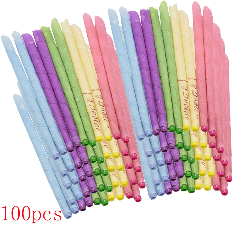 50- 100 Pieces Of Aromatherapy Ear Candle (quiet Bergamot - Light Yellow/horn With Plug) Ear Maintenance