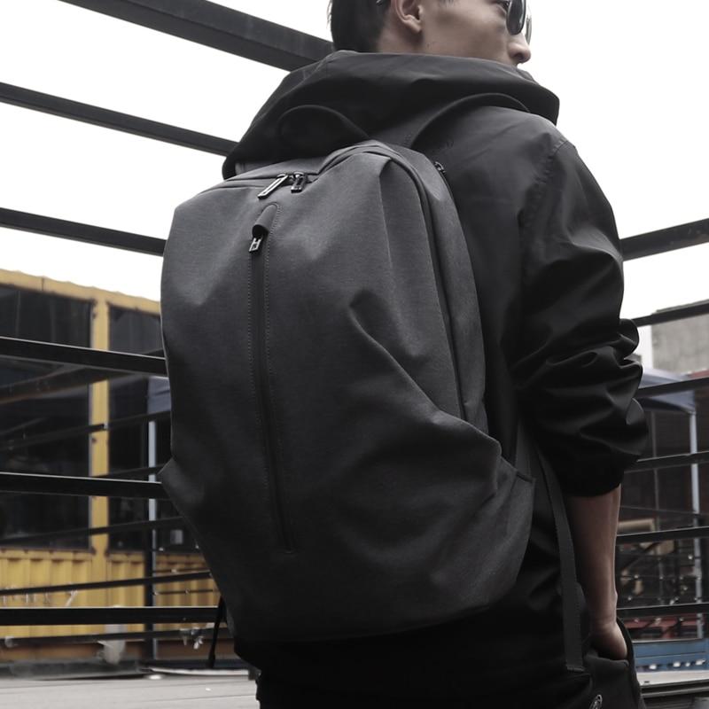 FYUZE sac à dos en nylon étanche pour hommes 15.6 pouces 17 sac à dos d'ordinateur mâle sacs à dos cool ordinateur portable loisirs sac de voyage anti-voleur
