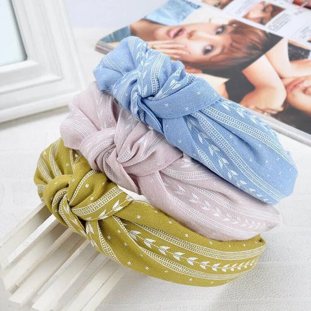 Fashion Bow Knot Hairband Women Hair Head Hoop Simple Sweet Girls,Hot Pink,United States