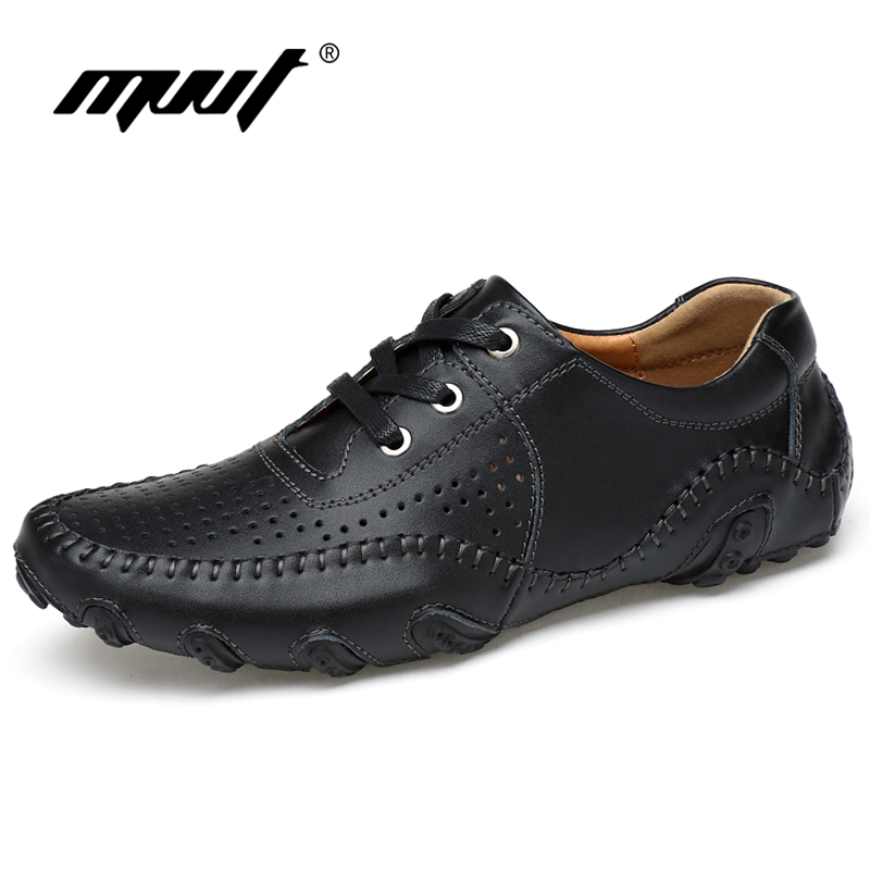 MVVT Super Soft Men Loafers Split Lær Casual Shoes For Men Stor - Herresko