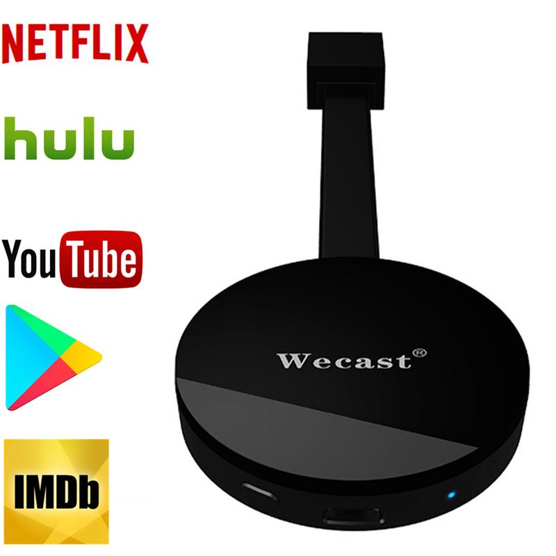 WECAST TV Stick For Netflix And Youtube Mirroring 1080P HDMI WIFI Miracast Airplay DLNA TV Dongle