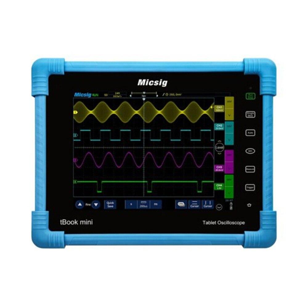 Micsig Tablette Numérique Oscilloscope 100 mhz 2CH 4CH de poche oscilloscope automobile scopemeter oscilloscope osciloscopio TO1102