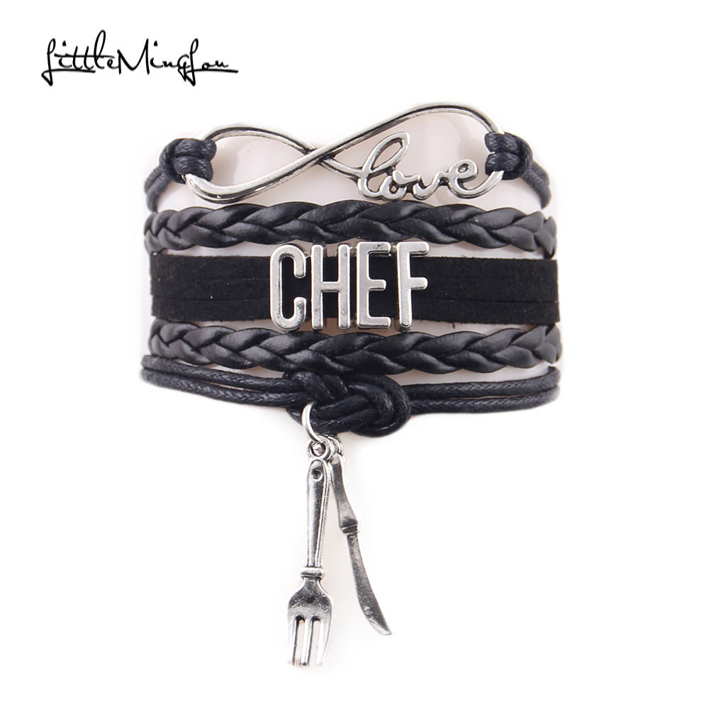 Little ming lou infinity love chef bracelet knife and fork - Infinity chefs opiniones ...