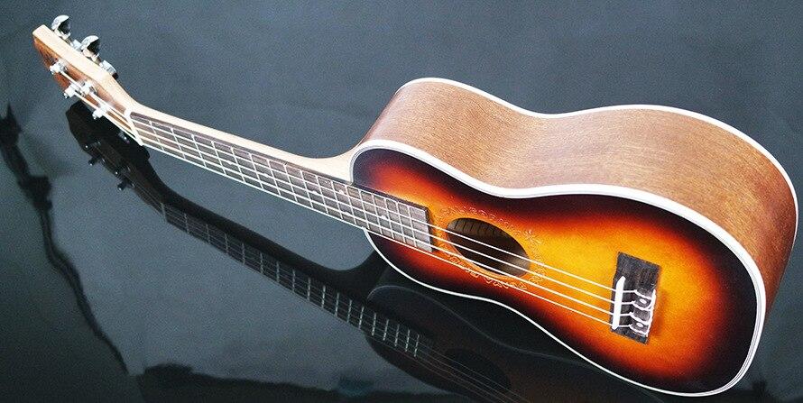 23 pouces palissandre touche ukulélé quatre cordes Aquila 17 Fret hawaïen ukelele acoustique guitare électrique coucher de soleil couleur pick-up - 3