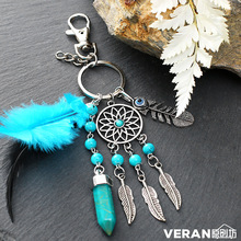 MEMOSTOO Dreamcather Creative key chain Bohemian alloy dream net tassel pendant girls birthday  gif